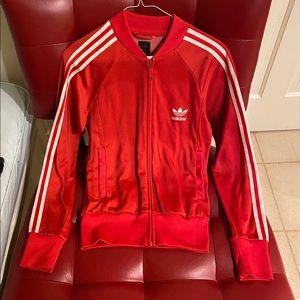 Adidas vintage red track jacket
